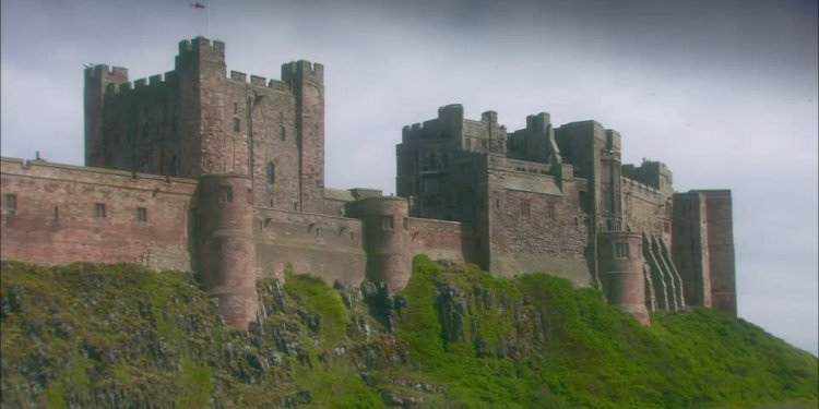 Bamburgh castle Stock Videos