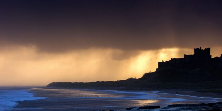 Stunning Sunrise Over Bamburgh