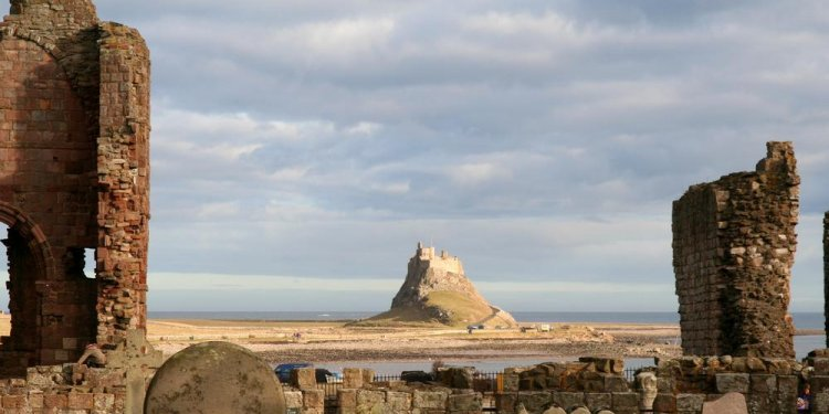 Lindisfarne Castle seen from