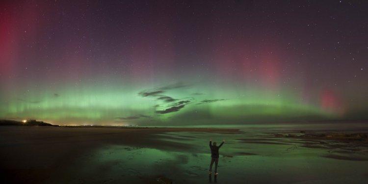 Aurora Borealis above the