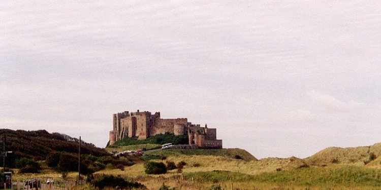 View of Bamburgh Castle from