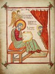 A page through the Lindisfarne Gospels (c) British Library Board