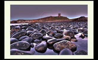 Dunstanbugh Castle Northumberland north-east Landscaspe printing photo