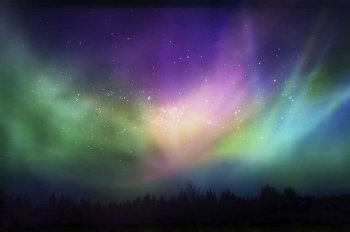 Rainbow-hued Northern Lights
