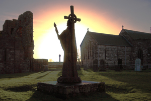 Statue of St Cuthbert from the Holy Island of Lindisfarne
